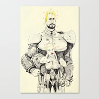 pacific rim Canvas Prints featuring Pacific Rim by withapencilinhand