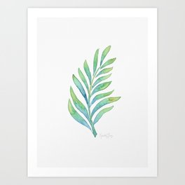 Tropical Palm Leaf 02 Art Print