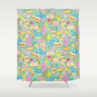 baking Shower Curtains featuring Baking pattern by Calidurge