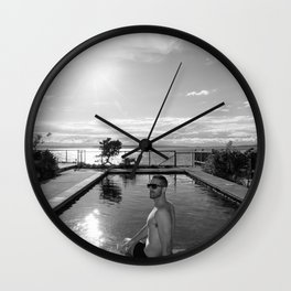 Hot Sun Cool Man Wall Clock