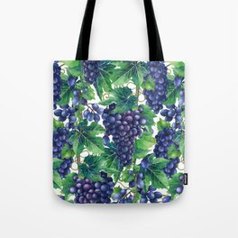 Watrercolor grapes Tote Bag