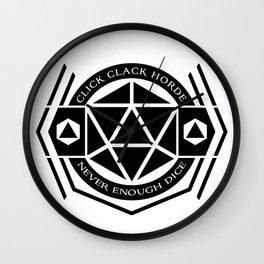 D20 Click Clack Horde Wall Clock