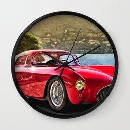 Vintage 1954 Italian Roadster A6GCS Berlinetta Pinin Farina Painting Wall Clock