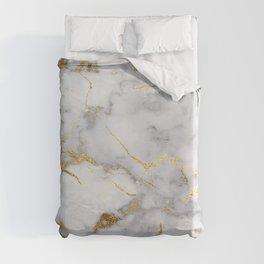 Italian gold marble Duvet Cover