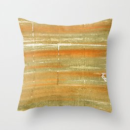 Aztec Gold abstract watercolor Throw Pillow