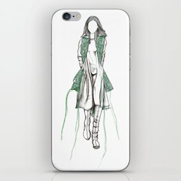 Y-3 - Sewn On Fashion Illustration iPhone Skin