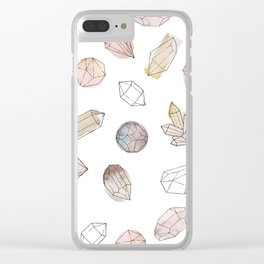 Watercolor Crystals | Healing Crystals Clear iPhone Case