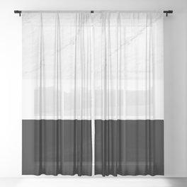 Marble Black White Sheer Curtain