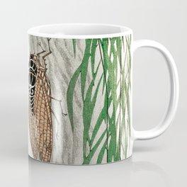 Cicada on a weeping willow tree - Japanese vintage woodblock print Coffee Mug
