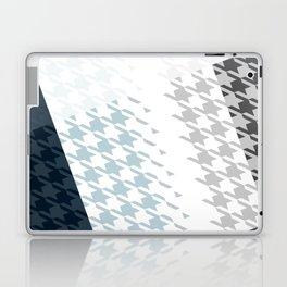 Modern Houndstooth Reinterpreted A – Navy / Gray / White Checked Pattern Laptop & iPad Skin