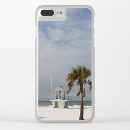 Clearwater Beach In Wintertime Clear iPhone Case