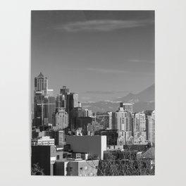 Seattle Winter White Poster