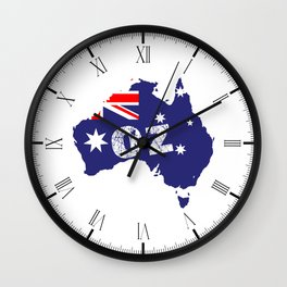 Outline Map OZ Wall Clock