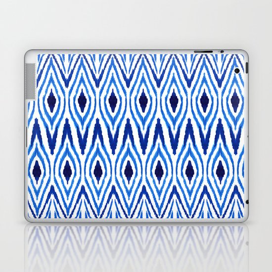 Ikat Blue Laptop & iPad Skin