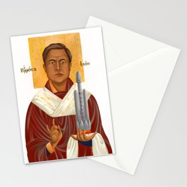 Holy Prophet Elon Musk isolated Stationery Cards