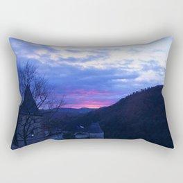 Sunset over the Castle Rectangular Pillow