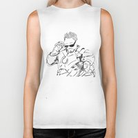 tony stark Biker Tanks featuring Iron Man (Tony Stark) by  Steve Wade ( Swade)