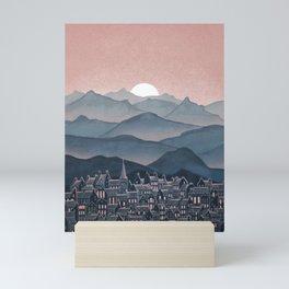 Seek - Sunset Mountains Mini Art Print