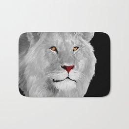 Albino Lion Bath Mat