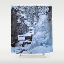 Ice Canyon in Canada Shower Curtain