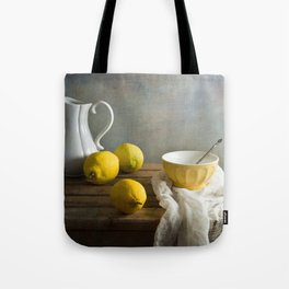Three lemons Tote Bag