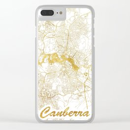 Canberra Map Gold Clear iPhone Case