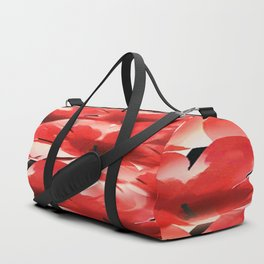 Red Poppies - Painterly Duffle Bag