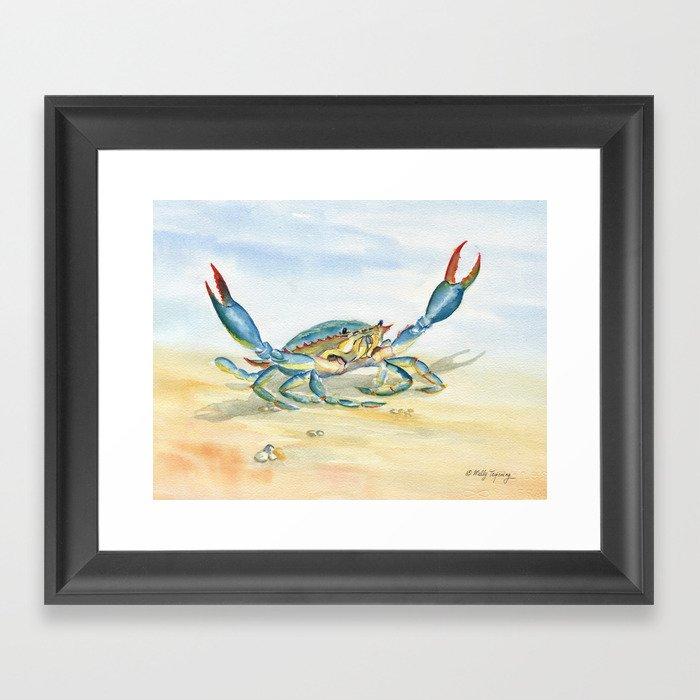Colorful Blue Crab Gerahmter Kunstdruck