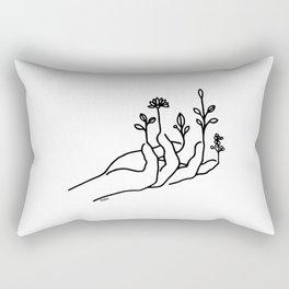 Bloom hand Rectangular Pillow