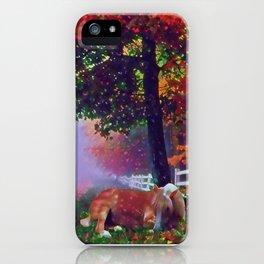 Autumn Nap iPhone Case
