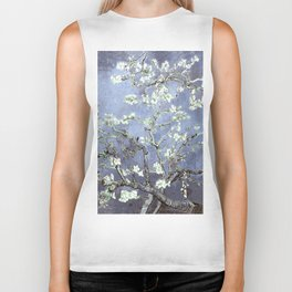 Vincent Van Gogh Almond Blossoms : Steel Blue & Gray Biker Tank