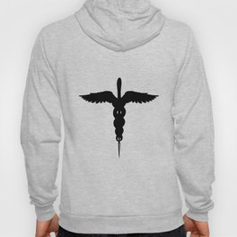 Caduceus Medical Symbol Isolated Hoody