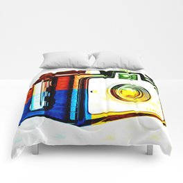 Box Camera Pop Art  Comforters