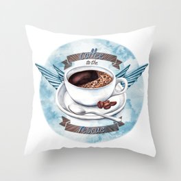 Coffee To The Rescue Throw Pillow