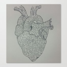Letter on My Heart  Canvas Print