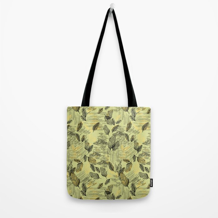 Seamless Blossom Pattern Tote Bag