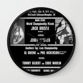 #1-B Memphis Wrestling Window Card Wall Clock
