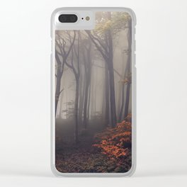 Red leaves of autumn Clear iPhone Case