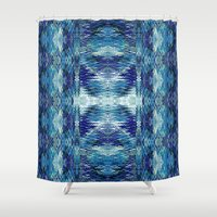 kilim Shower Curtains featuring Zuni River by Nina May Designs
