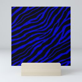 Ripped SpaceTime Stripes - Blue Mini Art Print