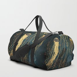 Metallic Jellyfish Duffle Bag