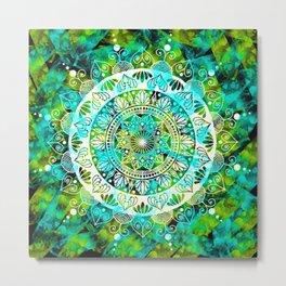 Cosmic Mandala Metal Print