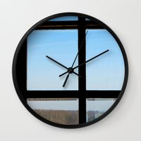 clear Wall Clocks featuring Clear by the insight city