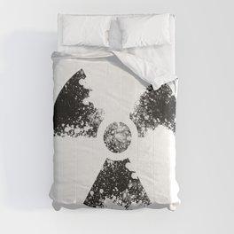 Radioactive symbol- decay Comforters
