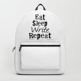Eat Sleep Write Repeat Backpack