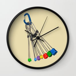Rock Climbing Wires Wall Clock