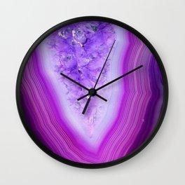 Magically Purple Agate Druzy Wall Clock
