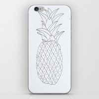 pinapple iPhone & iPod Skins featuring pinapple by Ayşe Sezaver