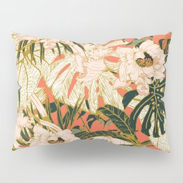 Flowering tropical coral bloom Pillow Sham