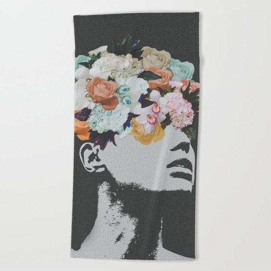 Flowers on the Mind Beach Towel